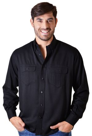 Camisa-casual-masculina-tradicional-viscose-preto-f00481a-1