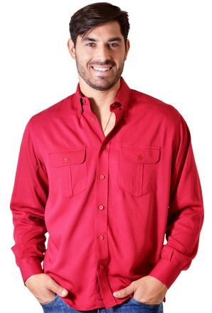 Camisa-casual-masculina-tradicional-viscose-vermelho-f00481a-1