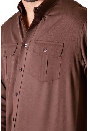 Camisa-casual-masculina-tradicional-viscose-marrom-f00481a-3