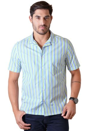 Camisa-casual-masculina-tradicional-algodao-fio-60-verde-claro-f01506a-1