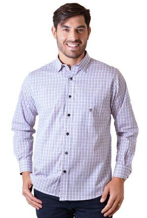 Camisa-casual-masculina-tradicional-algodao-fio-50-lilas-f01410a-1