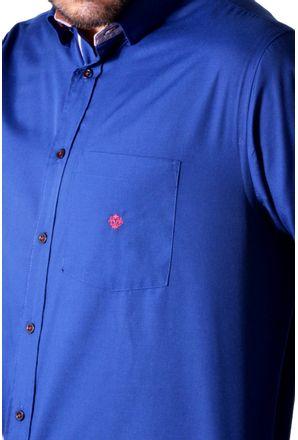 Camisa-casual-masculina-tradicional-algodao-azul-escuro-f01755a-3