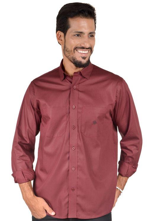 Camisa-casual-masculina-tradicional-algodao-fio-40-bordo-f01862a-1