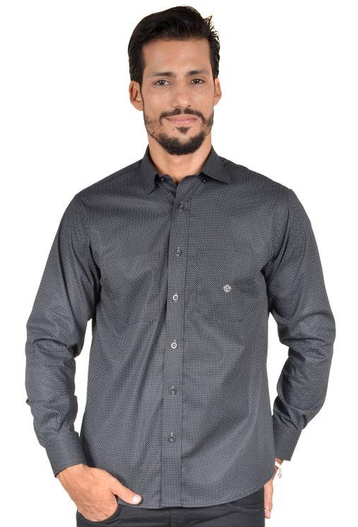 Camisa-casual-masculina-tradicional-algodao-fio-40-preto-f01862a-1