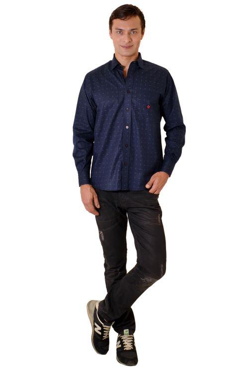 Camisa-casual-masculina-tradicional-algodao-fio-40-azul-escuro-f01863a-1