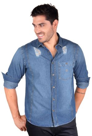 Camisa-casual-masculina-tradicional-jeans-azul-f01823a-1