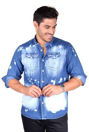 Camisa-casual-masculina-tradicional-jeans-azul-f01821a-1