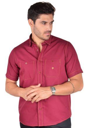 Camisa-casual-masculina-tradicional-algodao-fio-40-bordo-f01780a-1