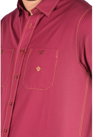 Camisa-casual-masculina-tradicional-algodao-fio-40-bordo-f01780a-3