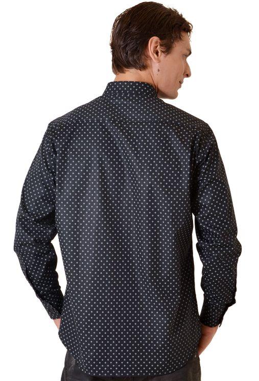 Camisa-casual-masculina-tradicional-algodao-fio-40-preto-f01868a-1