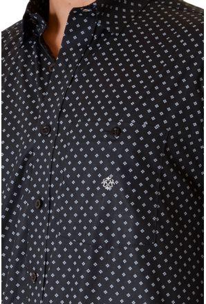 Camisa-casual-masculina-tradicional-algodao-fio-40-preto-f01868a-3