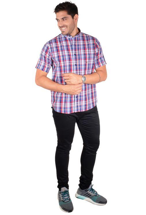 Camisa-casual-masculina-tradicional-algodao-fio-40-azul-f01410a-1