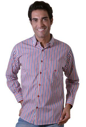 Camisa-casual-masculina-tradicional-algodao-fio-60-vermelho-f01163a-1