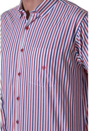 Camisa-casual-masculina-tradicional-algodao-fio-60-vermelho-f01163a-3