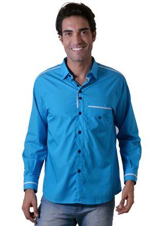Camisa-casual-masculina-tradicional-algodao-fio-80-azul-f01202a-1