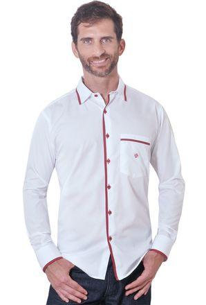 Camisa-casual-masculina-tradicional-algodao-fio-80-vermelho-f01202a-1