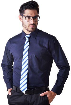 Camisa-social-masculina-tradicional-algodao-fio-50-azul-escuro-f08077a-1