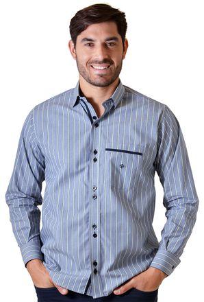 Camisa-casual-masculina-tradicional-algodao-fio-50-verde-f01203a-1