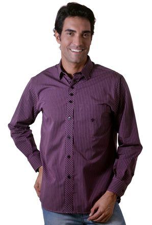 Camisa-casual-masculina-tradicional-algodao-fio-50-roxo-f01171a-1