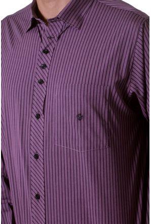 Camisa-casual-masculina-tradicional-algodao-fio-50-roxo-f01171a-3