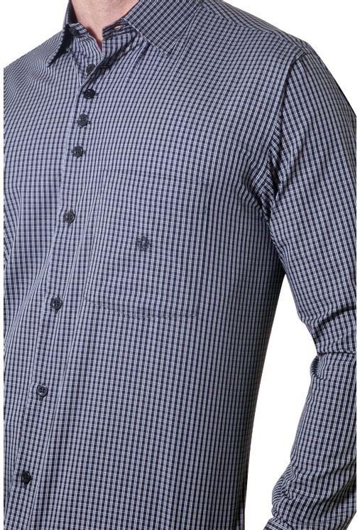 Camisa-casual-masculina-tradicional-algodao-fio-50-preto-f01354a-1