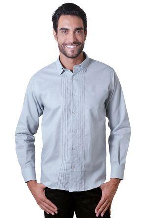 Camisa-casual-masculina-tradicional-linho-misto-cinza-f01293a-1