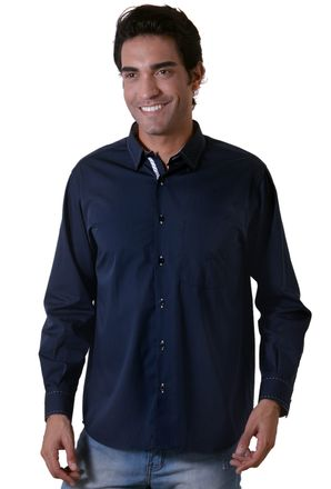 Camisa-casual-masculina-tradicional-algodao-fio-60-azul-escuro-f01306a-1