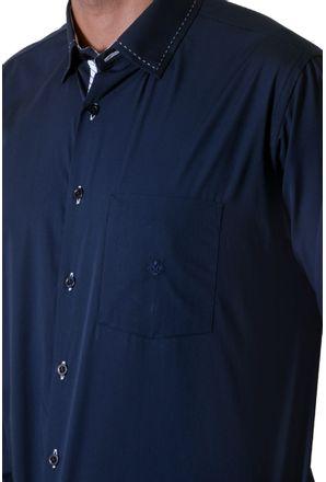 Camisa-casual-masculina-tradicional-algodao-fio-60-azul-escuro-f01306a-3