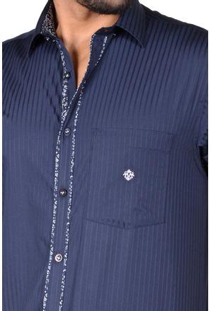Camisa-casual-masculina-tradicional-algodao-fio-60-azul-escuro-f01312a-3
