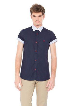 Camisa-casual-masculina-slimfit-algodao-fio-50-azul-escuro-f01426f-1