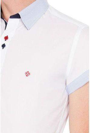 Camisa-casual-masculina-slimfit-algodao-fio-50-branco-f01428f-3