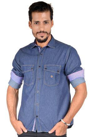 Camisa-casual-masculina-tradicional-jeans-azul-escuro-f01526a-1
