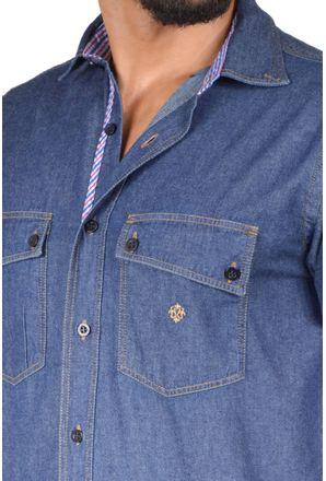 Camisa-casual-masculina-tradicional-jeans-azul-escuro-f01526a-3