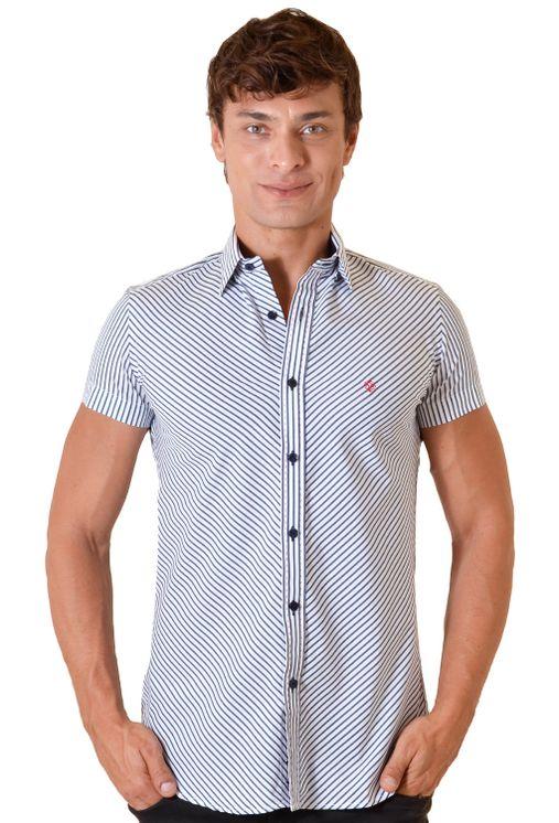 Camisa-casual-masculina-slimfit-algodao-fio-80-branco-f11432f-1