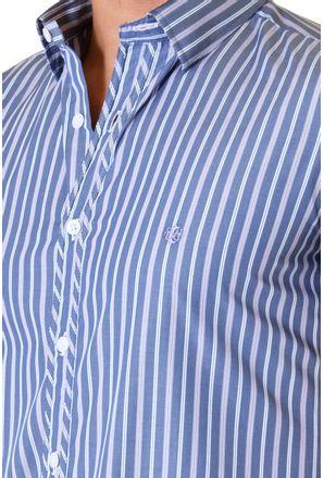 Camisa-casual-masculina-slimfit-algodao-fio-80-azul-f11428f-3