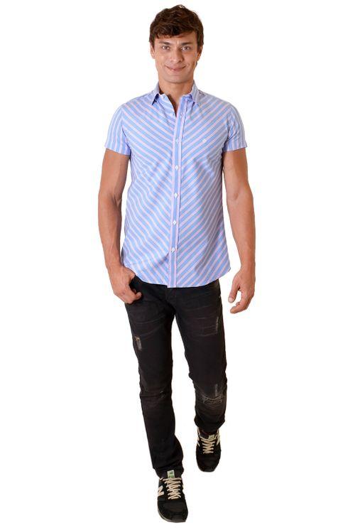 Camisa-casual-masculina-slimfit-algodao-fio-60-rosa-f01431f-1