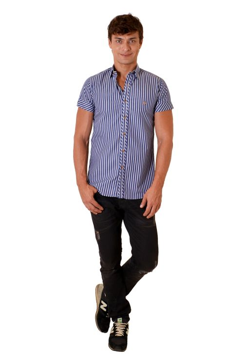 Camisa-casual-masculina-slimfit-algodao-fio-60-azul-escuro-f01427f-1