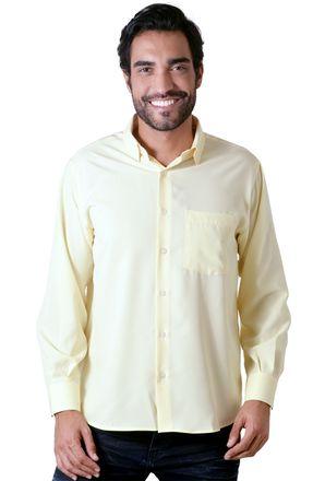 Camisa-casual-masculina-tradicional-microfibra-creme-f06208a-1