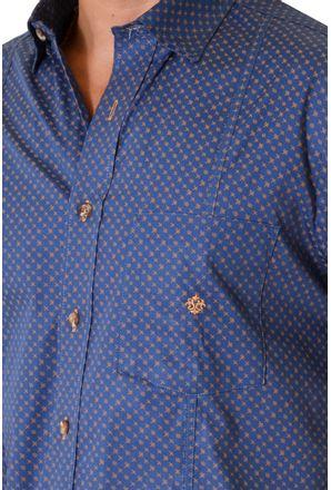 Camisa-casual-masculina-tradicional-algodao-fio-50-azul-escuro-f01611a-3