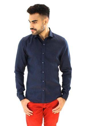 Camisa-casual-masculina-slim-linho-azul-escuro-f05815s-1