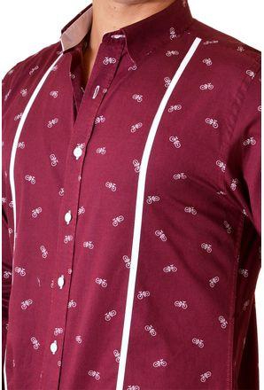 Camisa-casual-masculina-slim-algodao-fio-60-bordo-f01612s-3