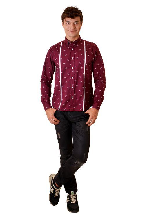 Camisa-casual-masculina-slim-algodao-fio-60-bordo-f01612s-1