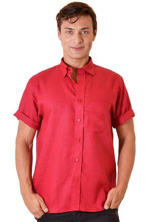 Camisa-casual-masculina-tradicional-linho-vermelho-f03943a-1