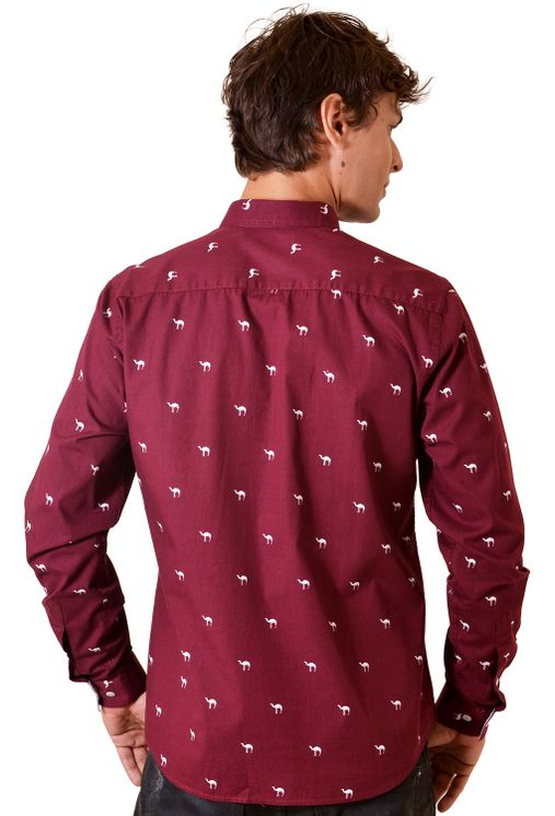 Camisa-casual-masculina-slim-algodao-fio-50-bordo-f01320s-1