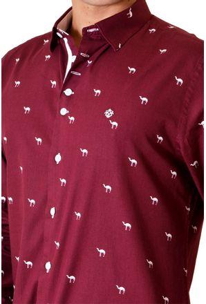 Camisa-casual-masculina-slim-algodao-fio-50-bordo-f01320s-3