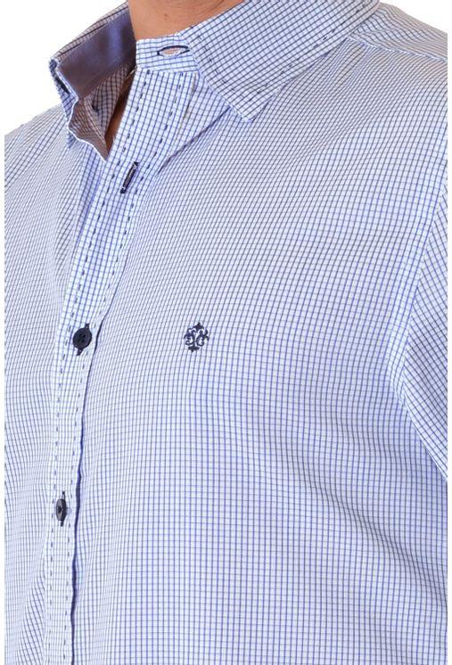 Camisa-casual-masculina-slim-algodao-fio-60-azul-f01348s-1