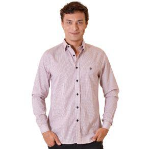 Camisa-casual-masculina-slim-algodao-fio-60-vermelho-f01348s-1