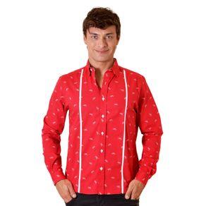 Camisa-casual-masculina-slim-algodao-fio-60-vermelho-f01612s-1