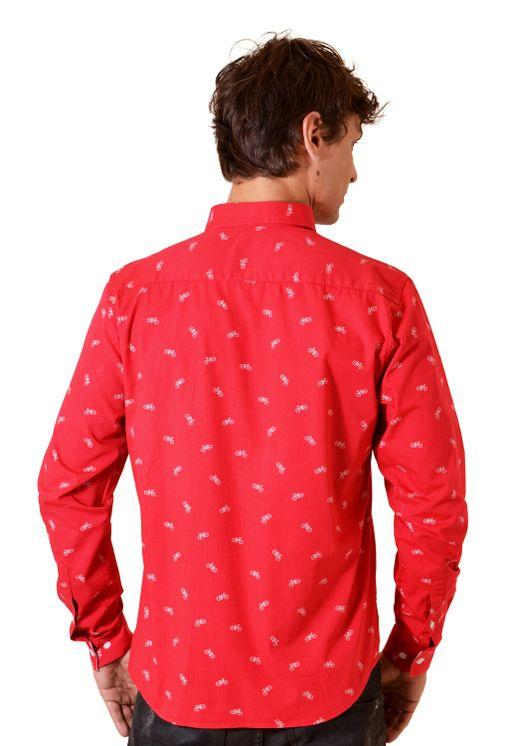 Camisa-casual-masculina-slim-algodao-fio-60-vermelho-f01612s-2