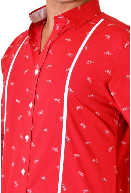 Camisa-casual-masculina-slim-algodao-fio-60-vermelho-f01612s-3